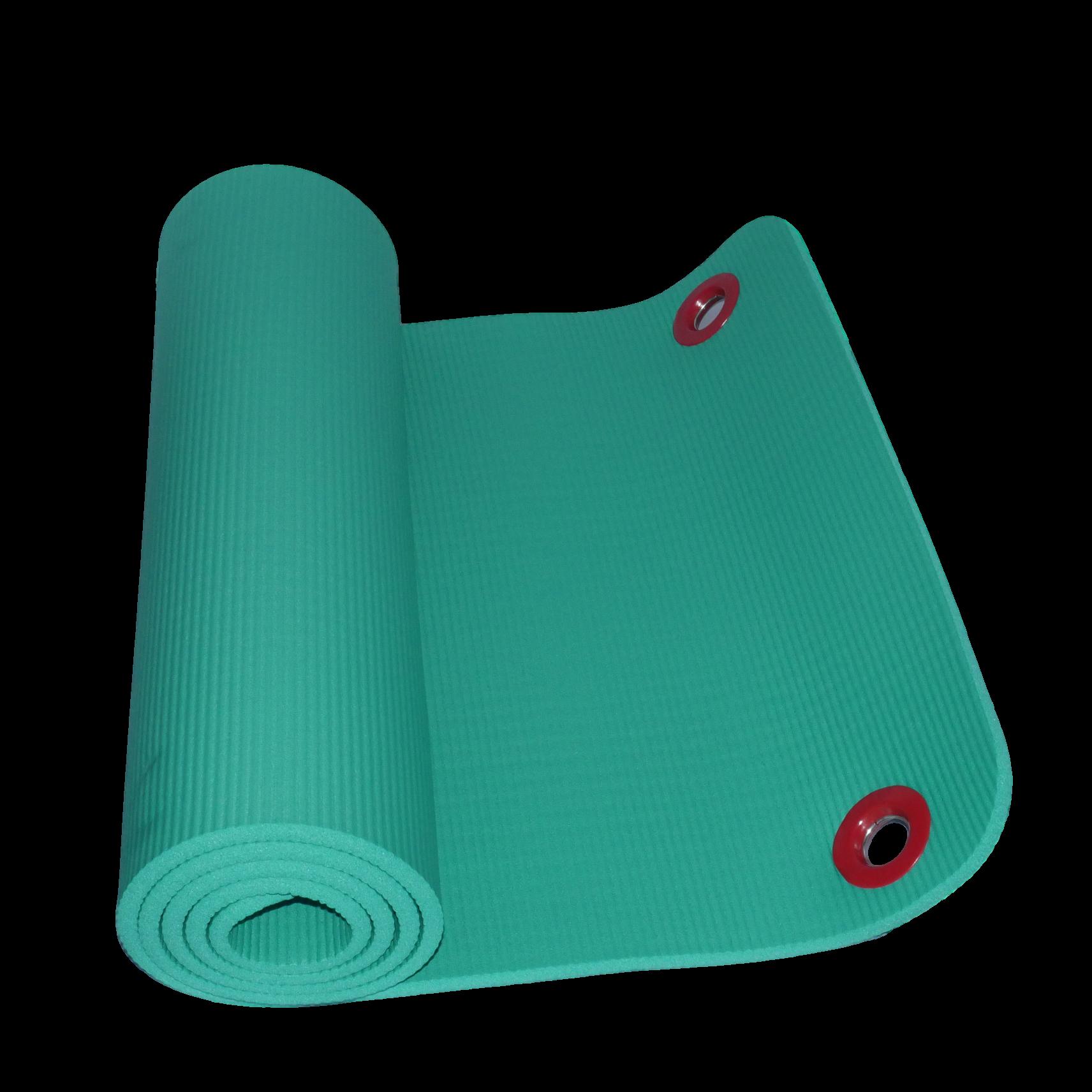 fitness pilates mat 10mm green 2