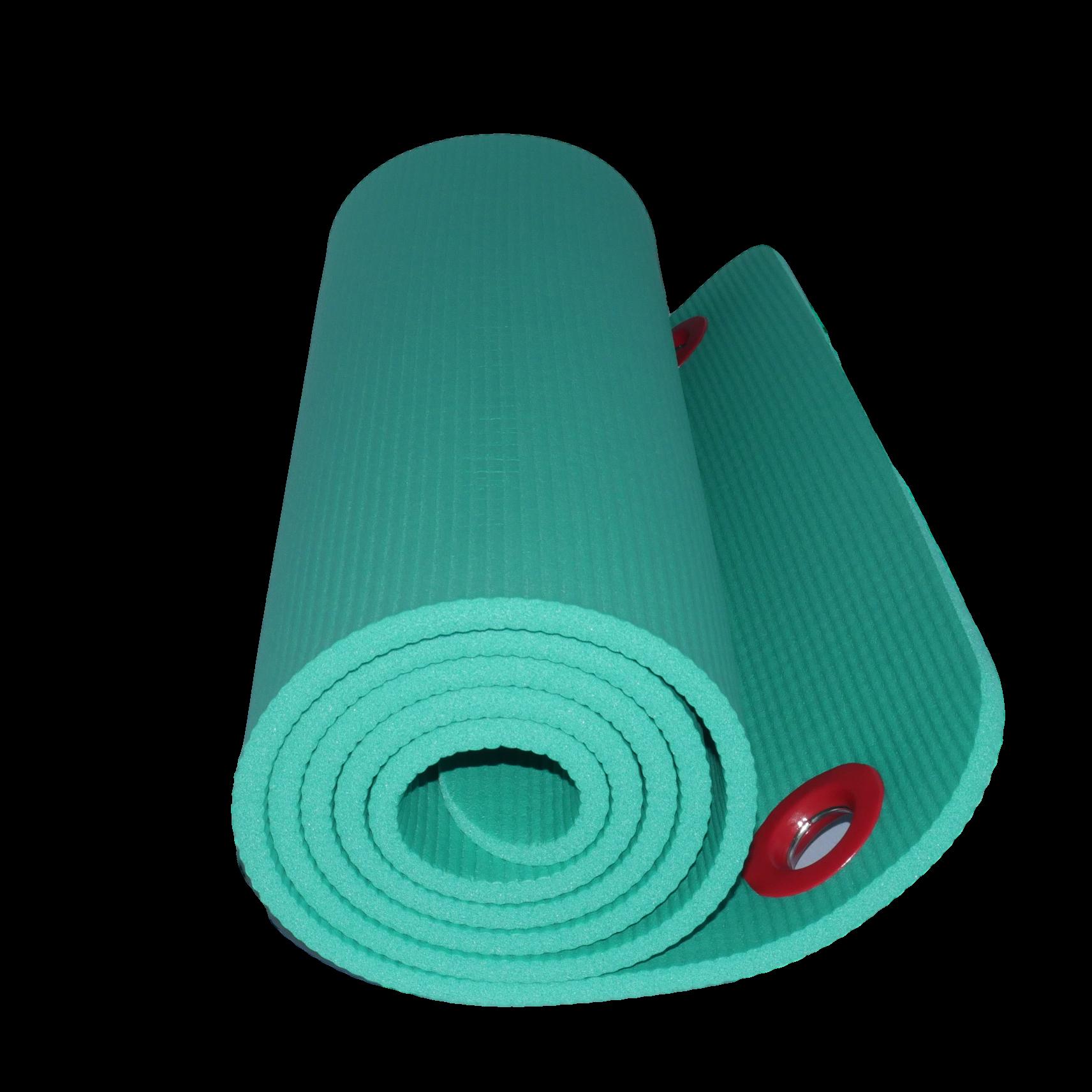 fitness pilates mat 10mm green